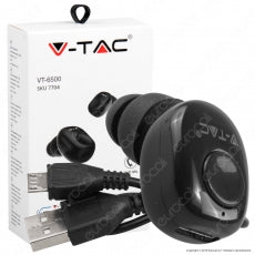 V-TAC VT-6500 AURICOLARE BLUETOOTH MINI EARBUDS COLORE BIANCO