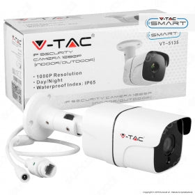 V-TAC VT-5135 TELECAMERA DI SORVEGLIANZA IP SECURITY CAMERA 1080P IP65 - SKU 8478