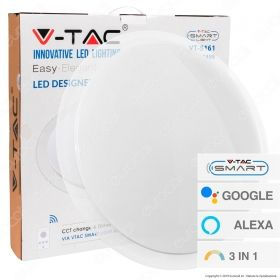 V-TAC SMART VT-5141 PLAFONIERA LED 40W CHANGING COLOR 3IN1 WI-FI FORMA CIRCOLARE EFFETTO CIELO STELLATO - SKU 1497