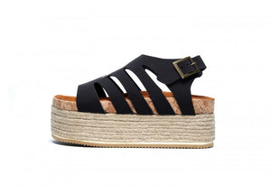 CAELI SUPER WEDGE NEGRO