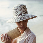 Borneo Fisherman Bucket Straw Hat, in Black