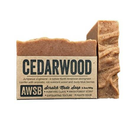 Cedarwood Bar Soap - A Wild Soap Bar 3.5 oz