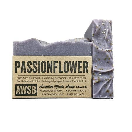Passionflower Bar Soap - A Wild Soap Bar 3.5 oz