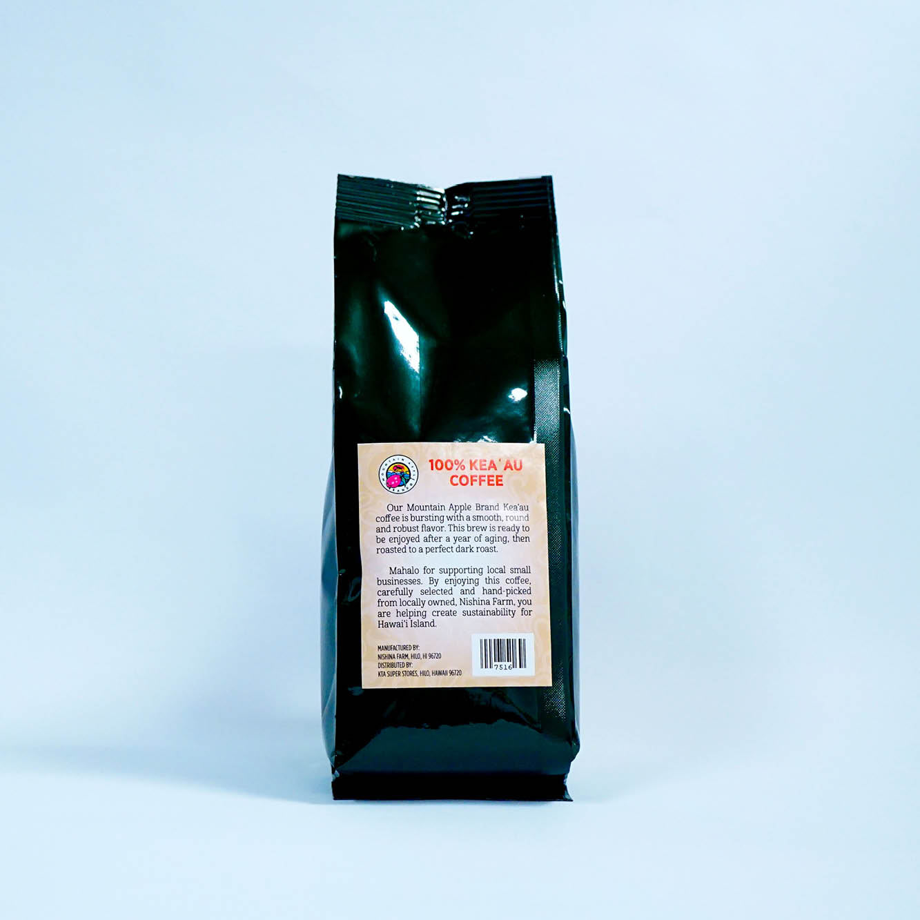 Mountain Apple Brand Gourmet Coffee - 100% Kea'au Dark Roast