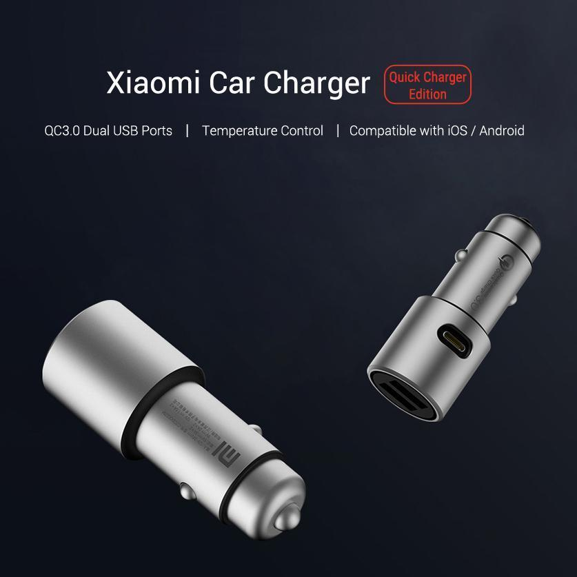 Xiaomi ZMI Car Charger Dual USB 18W Phone Quick Charge QC 3.0 Adapter