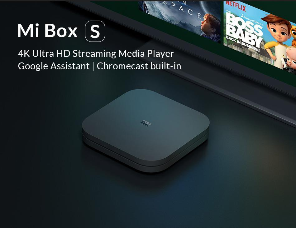 Xiaomi Mi Box S 8 GB Wi-Fi Black 4K Ultra HD EU version