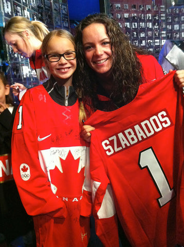 Shannon Szabados with #1 Jersey