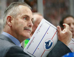 Willie Desjardins holding a CoachingBoard.com Clipboard