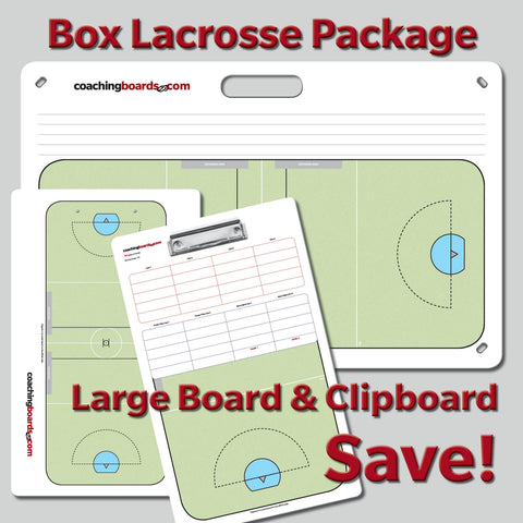 Box Lacrosse Coach's Package - Large Board & Clipboard