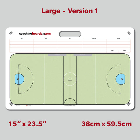Box Lacrosse (Indoor) Dry Erase Coaching Board - Large