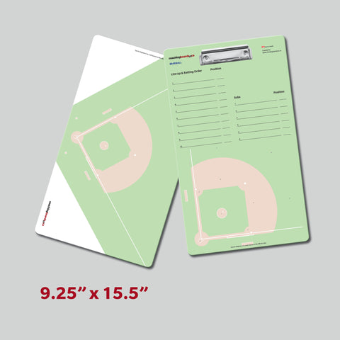 Baseball dry erase 2 sided clipboard with player lineups