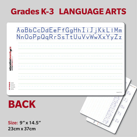 SMALL - Grades K, 1, 2, 3 Language Arts
