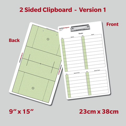 Lacrosse Dry Erase Coaching Clipboard