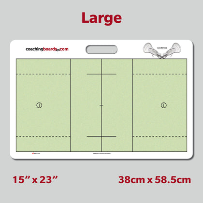 Lacrosse Dry Erase Coaching Board - Large