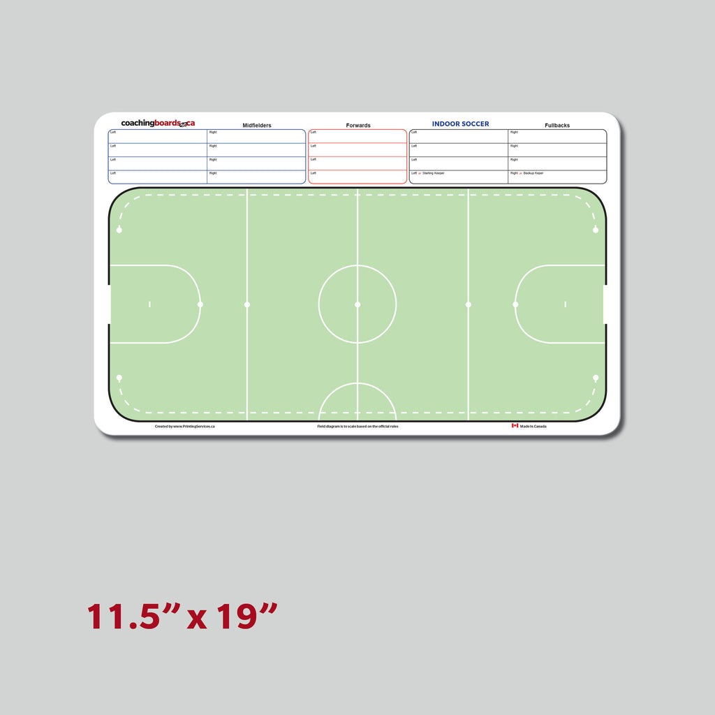 Indoor Soccer Coaching White Board - Medium size