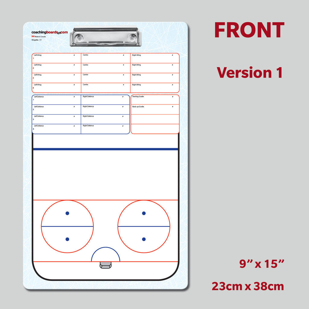 Ringette - 2 Sided Clipboards (2 Versions)