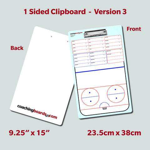 Ringette - 1 Sided Clipboard (3 Versions)