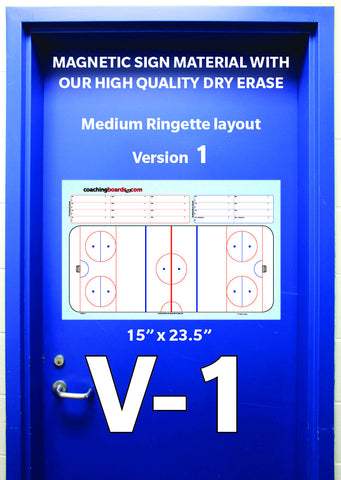 Ringette-Large Magnetic Dressing Room Coaching Board