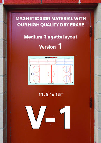 Ringette-Medium Magnetic Dressing Room Coaching Board