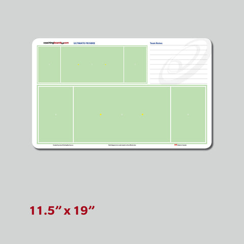 Ultimate Frisbee Dry Erase Coaching Board - Medium