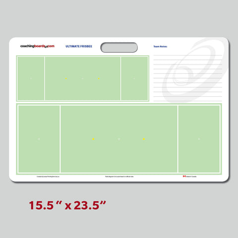 Ultimate Frisbee Dry Erase Coaching Board - Large