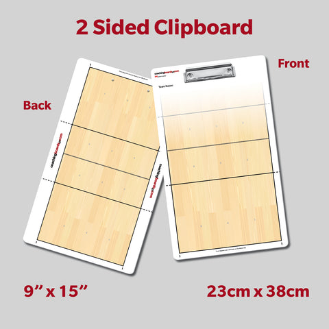 Volleyball Dry Erase Coaching Clipboard
