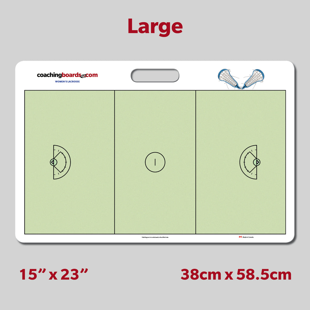 Women's Lacrosse Dry Erase Coaching Board - Large