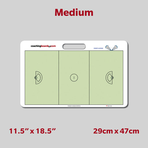 Women's Lacrosse Dry Erase Coaching Board - Medium
