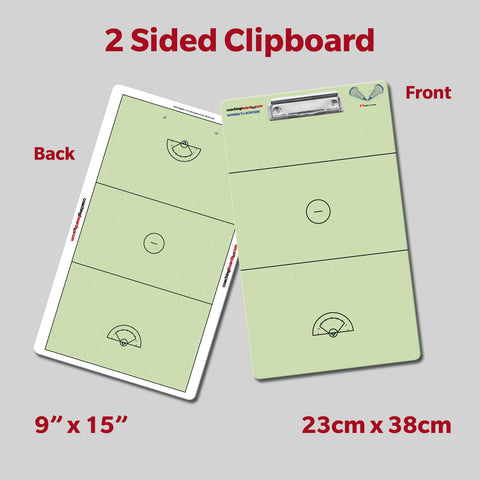Women's Lacrosse Dry Erase Coaching Clipboard