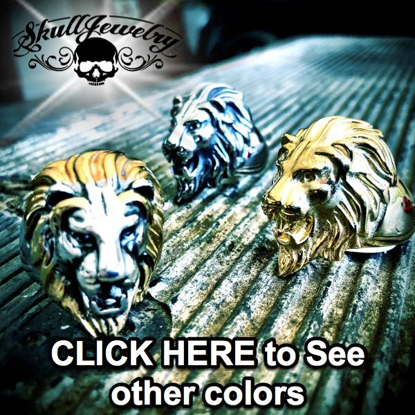 3 colors of big bold lion rings