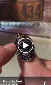 'I'd Rather Die a Soldier Than a Coward' Skull Ring