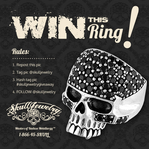 win this badass skull ring from skull jewelry dot com