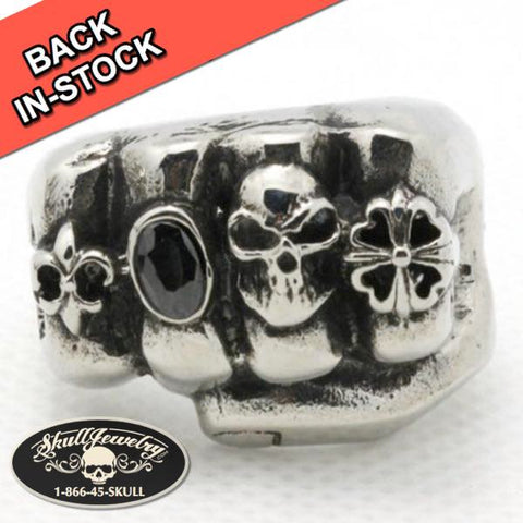 """Roll The Bones"" Stainless Steel Fist Ring"