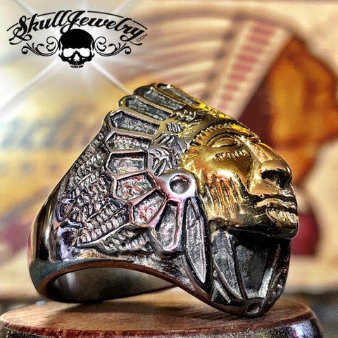 gold indian ring