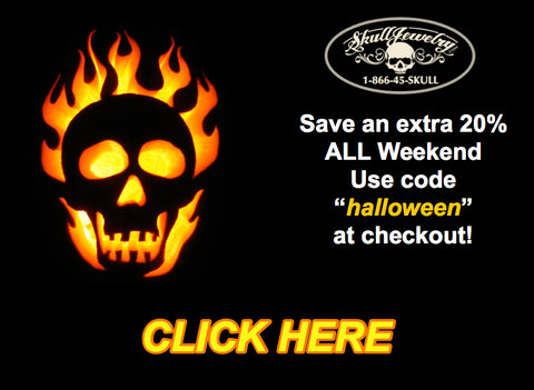 happy halloween save an extra 20% off all weekend