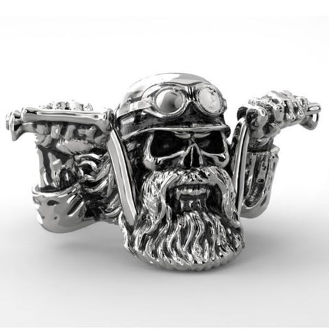 'Life Behind Bars' Skull ring