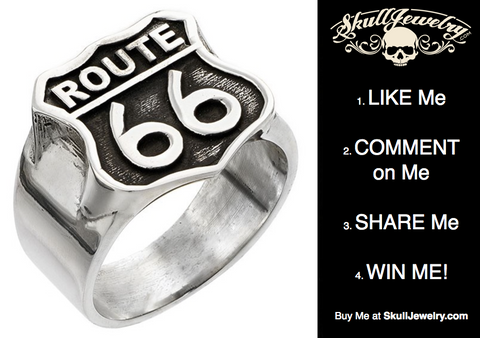 Winner of the Route 66 Ring – SkullJewelry American Owned