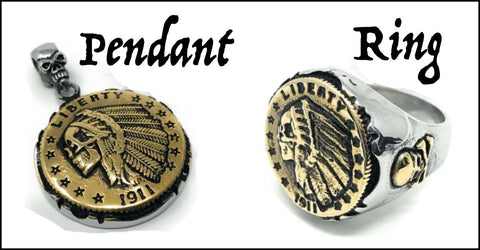 hobo coin pendant and ring