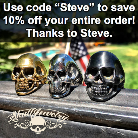 save an extra 10% off your entire order, thanks to Steve