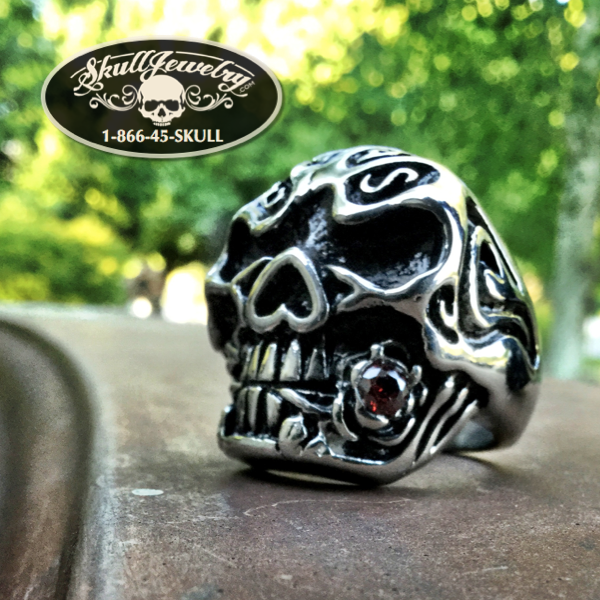 'You Could Be Mine' Big, Bold & Heavy Skull Ring