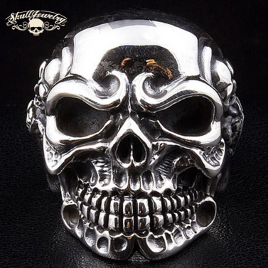 big bold and heavy skull ring