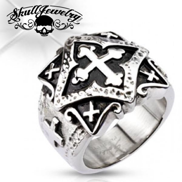 Crusaders Cross Ring