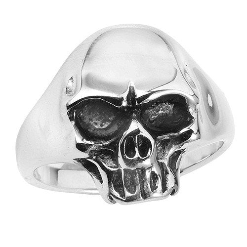 Stainless Steel Skull Ring With Plain Head Design (033)