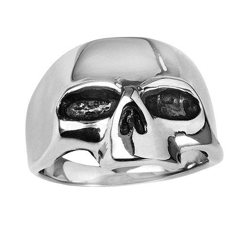 Plain Jawless Stainless Steel Skull Ring (036)
