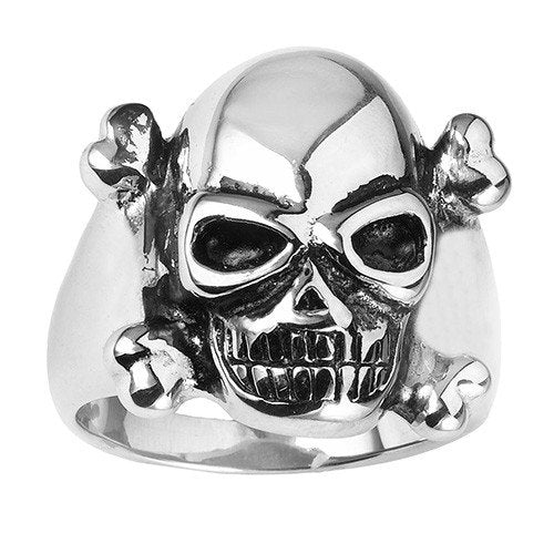 Stainless Steel Poison Skull Ring (039)