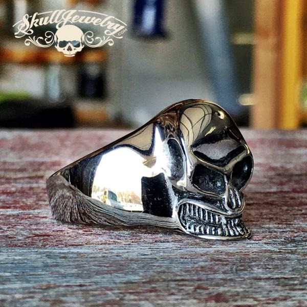 'Crâne Souriant' Skull Ring
