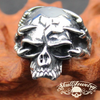'One Of These Nights' Stainless Steel Eagle Talon/Claws Skull Ring with No Lower Jaw - (4027)