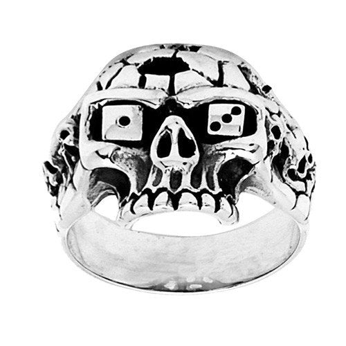 Jawless 13 Dice Skull Ring (074)
