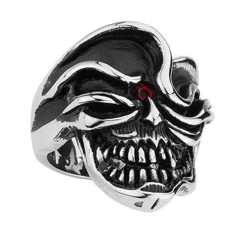 'One-Eyed Jack' Skull Ring (096)