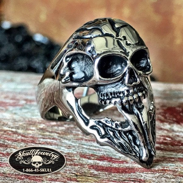 'Lick It Up' KISS  Long Tongue Skull Ring